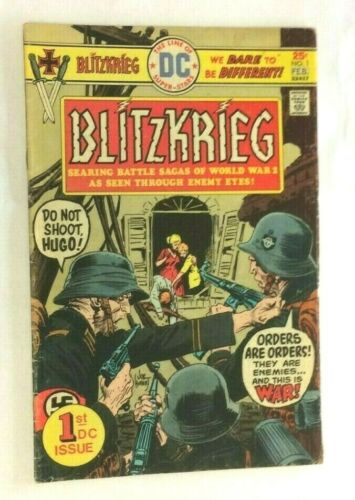 BLITZKRIEG No 1 Feb 1976 war ww ii 2 comic  DC First 1st Issue