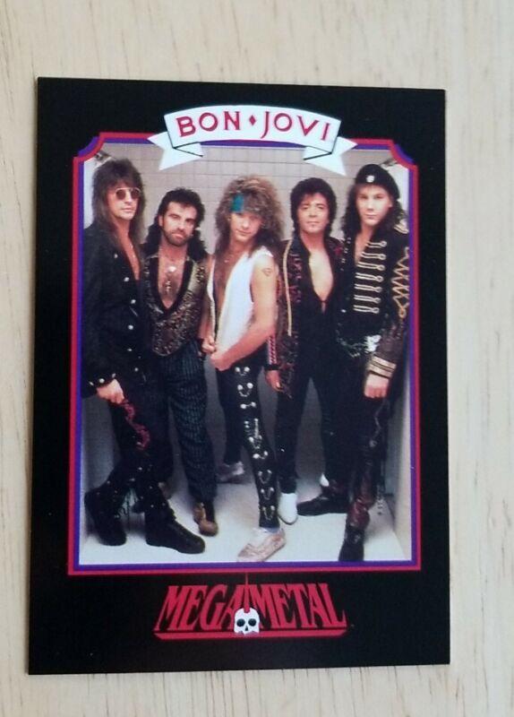 BON JOVI Vintage Trading Card 1991 Heavy Metal Megametal Music Hard Rock Pop BJ