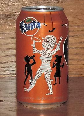 NM 2015 USA Coca-Cola LE FANTA ORANGE HALLOWEEN MUMMY 355 mL FULL CAN w/CONTENTS