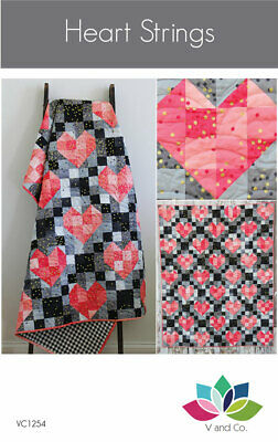 Quilt Pattern HEART STRINGS Moda V and Co. OMBRE CONFETTI METALLIC