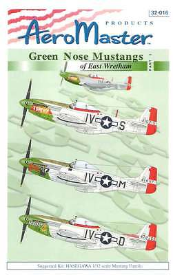 Aeromaster 32-016 Green Nose Mustangs Pt.1 Decal Sheet