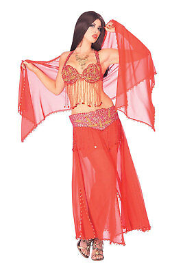 Harem Girl Red Deluxe Belly Dancer Genie Adult Halloween Costume