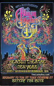 NEW ALLMAN BROTHERS BAND ABB 2014 BEACON THEATRE CONCERT TOUR PROGRAMME BOOK