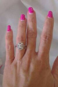 AUSCERT certified .71ct F Vs1 emerald cut engagement ring Camp Hill Brisbane South East Preview