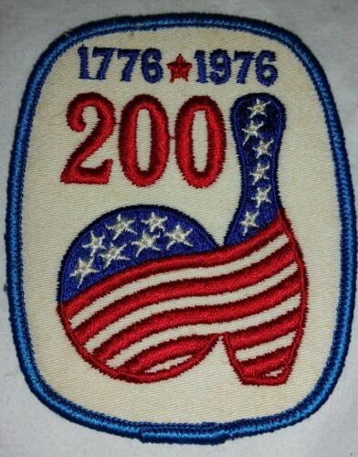 """Vintage 1776-1976 """"200"""" Bicentenial Bowling Patch Free Shipping"""