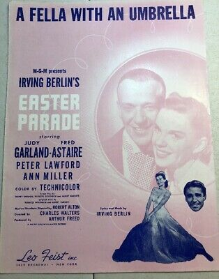 A Fella With An Umbrella '47 Easter Parade Fred Astaire Judy Garland Sheet Music](Umbrella Wreath)