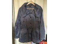 Mint Velvet grey jacket size 12 designer coat
