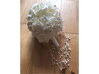 C artificial ivory wedding bouquet