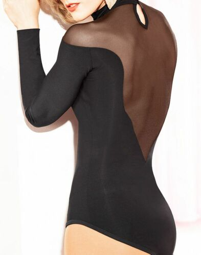 New Black Leotard Latin Dance Dress Ballroom Modern Practice Dance Top YG04