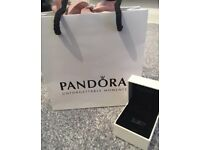 New Authentic Pandora charm Box and gift bag.
