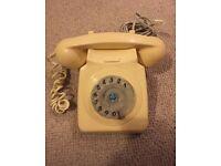 Original 1980s rotary dial phone
