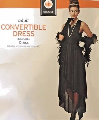 Women's Black Convertible Dress multi wear Halloween Costume New Plus size 2X](Plus Halloween Costumes)