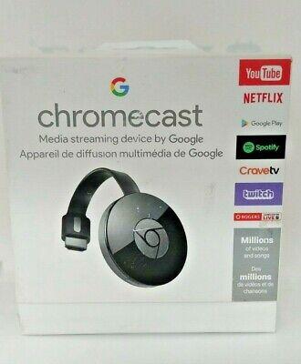 Google Chromecast 2 Digital HD Media Streamer GA3A00097-A03-Z01 Black