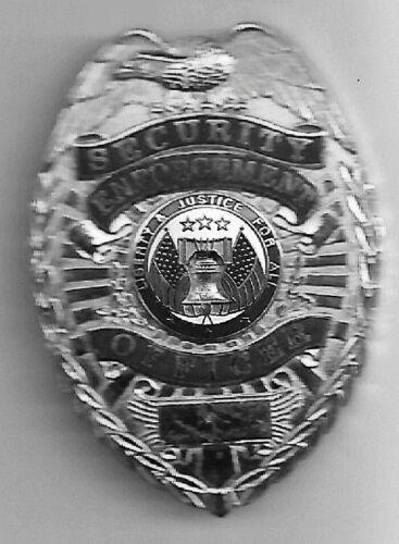 Golden Brass Security Enforcement Officer Badge