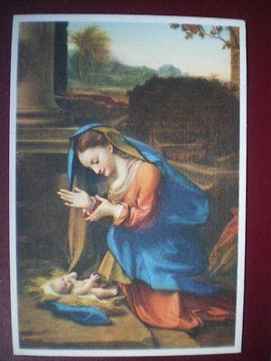 POSTCARD RELIGIOUS CORREGIO - MADONNA & CHILD