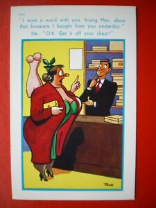 POSTCARD-COMIC-I-WANT-A-WORD-WITH-YOU-ABOUT-THE-BRA-IF-GOT-LAST-WEEK-OK-GET-IT