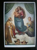 Postcard Medici Soc Raphael The Sister Madona Artist Signed -  - ebay.co.uk
