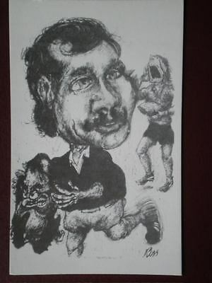 POSTCARD SPORT BILL BEAUMONT - RUGBY PLAYER - PENCIL SKETCH