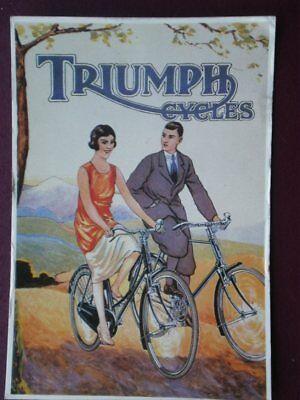 POSTCARD TRIUMPH BICYLES