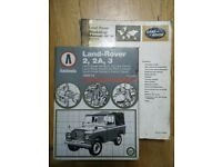 LAND ROVER 2,2A,3 OWNERS MANUALS