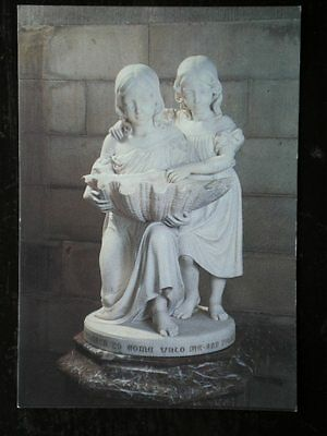 POSTCARD RELIGIOUS FONT IN CARRARA MARBLE - WILLOUGHBY DE BROKE