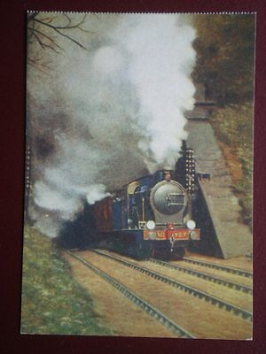 POSTCARD GREAT EASTERN RAILWAY LOCO NO 787 EMERGING FROM A TUNNEL