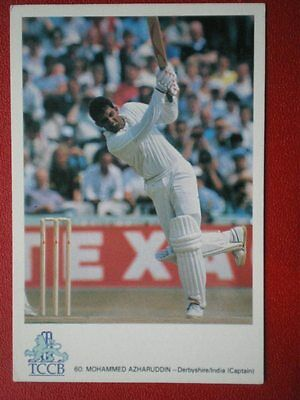 POSTCARD SPORT MOHAMMED AZHARUDDIN INDIA INTERNATIONAL CRICKET COLLECTION