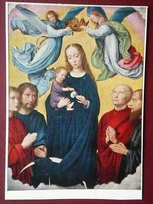 POSTCARD MEDICI SOC - THE CORONATION OF THE VIRGIN - GERRALD DAVID