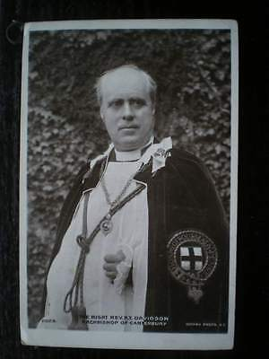POSTCARD RP RELIGIOUS RIGHT REV R DAVIDSON - ARCHBISHOP OF CANTERBURY 1900'S