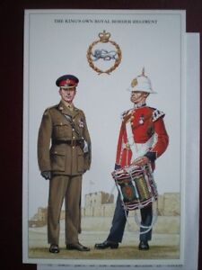 POSTCARD-THE-KINGS-OWN-ROYAL-BORDER-REGT-BADGE-MAJOR-NO-2-DRESS-DRUMMER