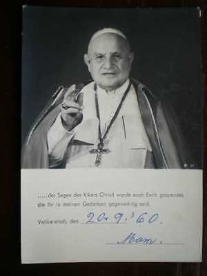 POSTCARD RELIGIOUS THE POPE 1960