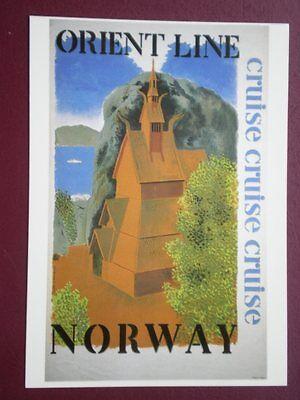 POSTCARD  DGA 160 ORIENT LINE - NORWAY
