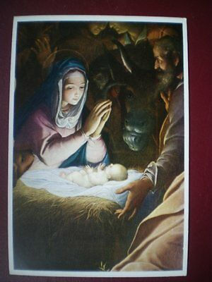 POSTCARD RELIGIOUS PROCACCINI - THE ADORATION