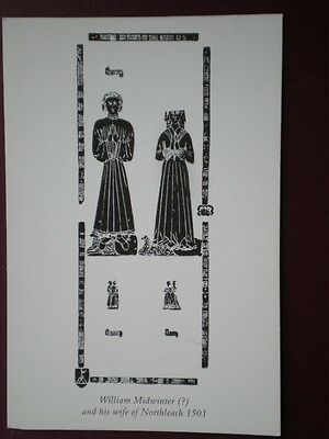 POSTCARD GLOUCESTERSHIRE WILLIAM MIDWINTER WIFE OF NORTHLEACH 1501  - PENCIL SKE
