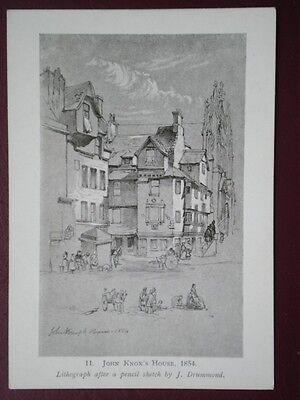 POSTCARD EDINBURGH JOHN KNOX HOUSE 1854