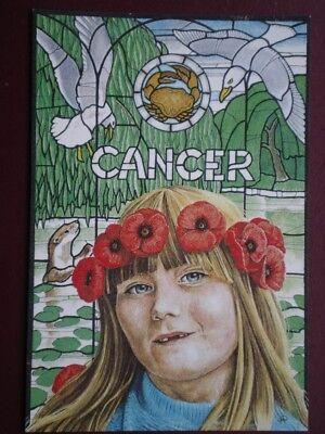 POSTCARD SOCIAL HISTORY CANCER ZODIAC SIGN 4 OF 12