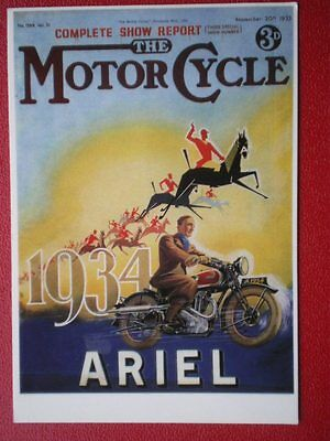 POSTCARD  ARIEL 1934 MOTOR CYCLE