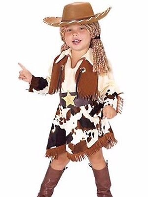 Cowgirl Costume Childs Girls Toddler Western Rodeo Cow Girl - Cow Costume For Girls