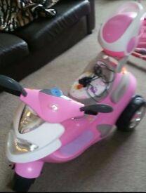 Brand new battery operated girls bike