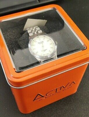 Activa Swiss Watch 495494 all Stainless Steel Ladies Watch Water Resistant