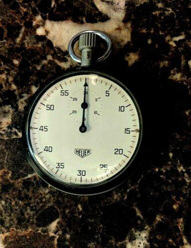 Genuine Heuer Stop Watch Chrono ~ Works Great ~ Vintage