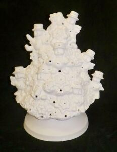 Complete Ceramic Snowman Painted Christmas Tree