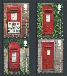 GREAT-BRITAIN-2009-POST-BOXES-SET-OF-4-FINE-USED-SG-2950-3