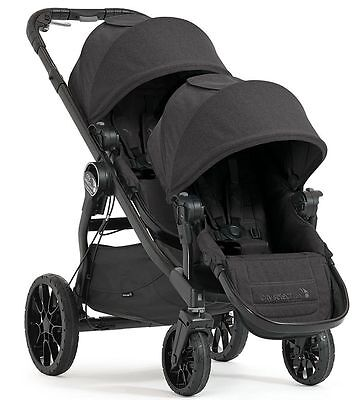 Baby Jogger City Select Lux Twin Tandem Double Stroller with Second Seat Granite
