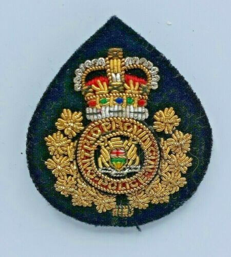 Vintage Ontario Provincial Police Metal Embroidered Crest Patch