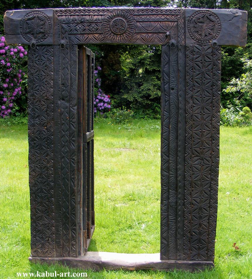 Antik orient massivholz t r carved wooden door tor gate for Door to gate kontakt