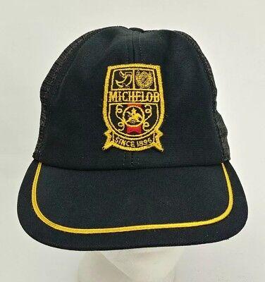 vintage michelob beer snapback trucker hat cap usa scrambled