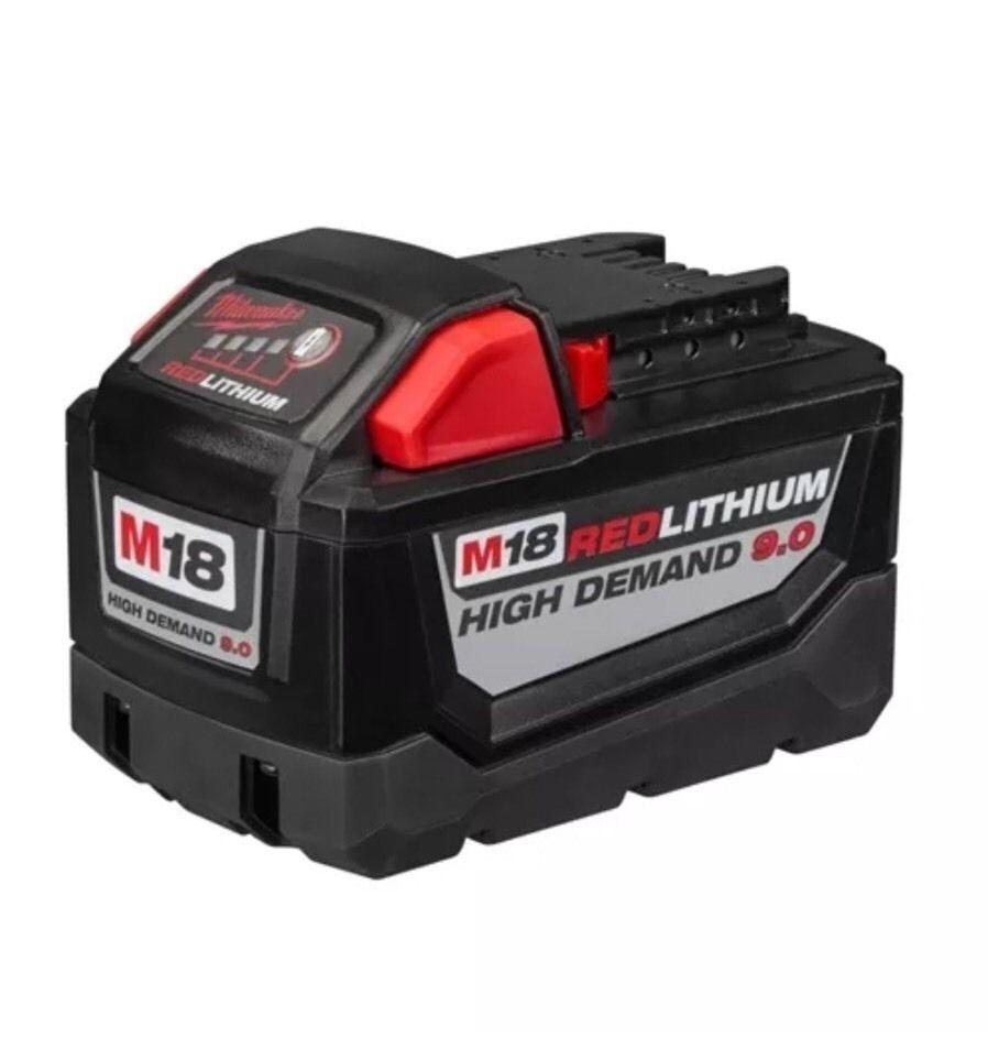 48-11-1890 Milwaukee M18 REDLITHIUM HD 18V 9.0 Ah Li-Ion Battery Pack