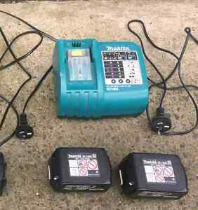 2 Makita batteries with 7.2v-24v charger Bankstown Bankstown Area Preview