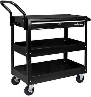 Rolling Tool Cart Garage Storage Utility 37 in. 1 Drawer Hea